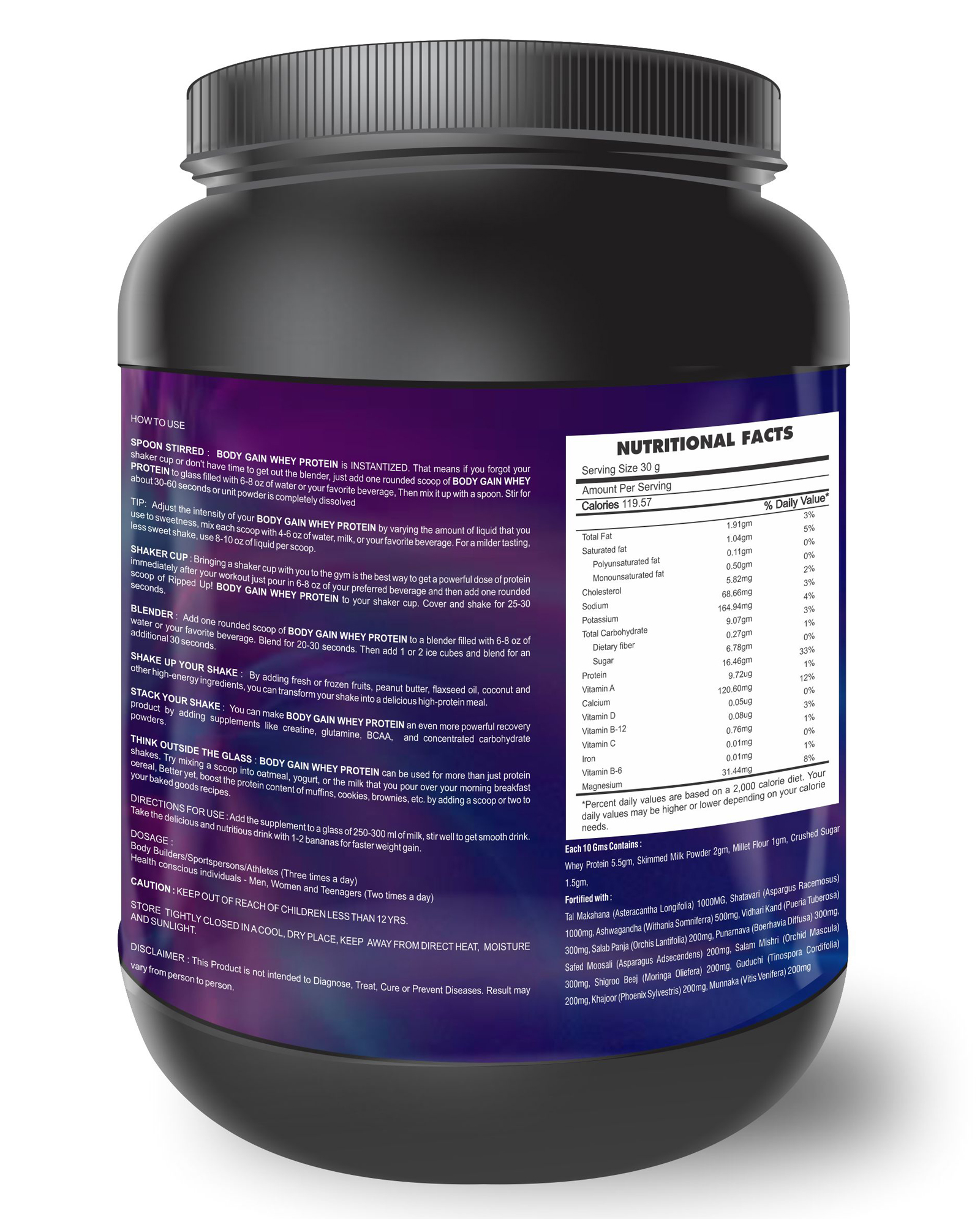 Body Weight / Muscle Gainer Whey